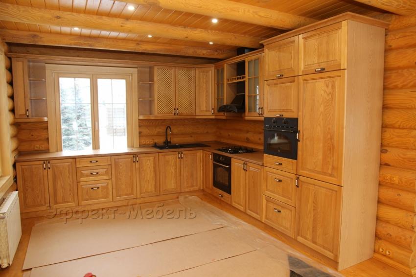 Кухня из массива дерева Ясень