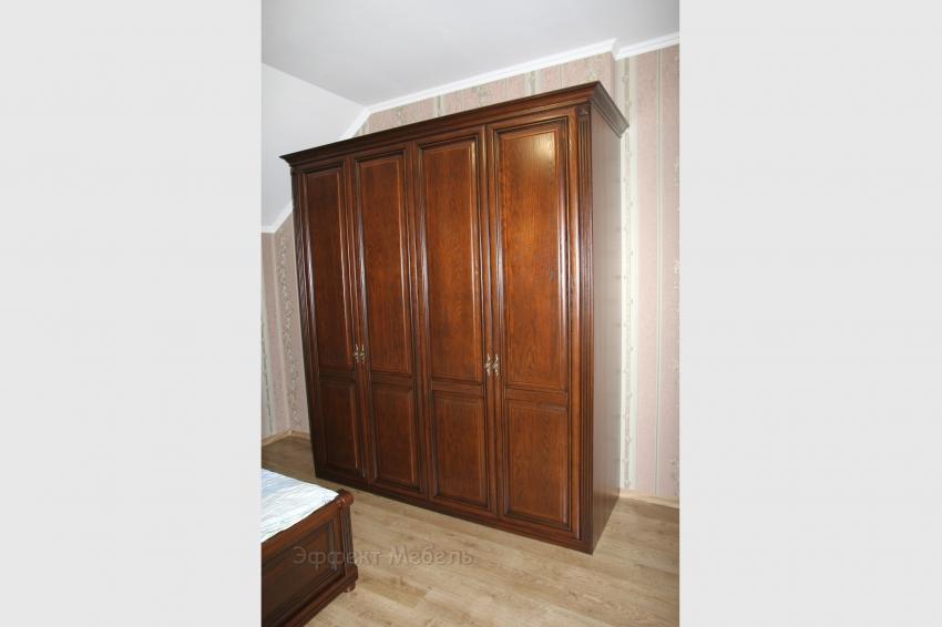 Шкаф в спальне Фасады Ясень