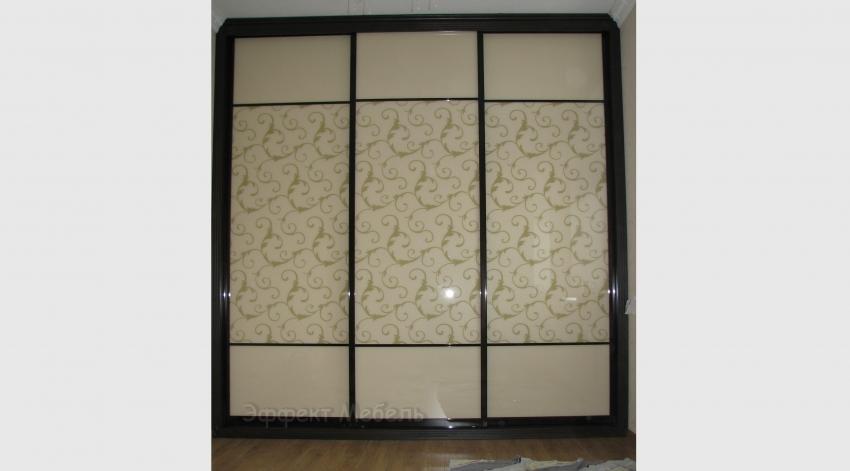Шкаф-купе с дверьми стекло крашеное с рисунком.