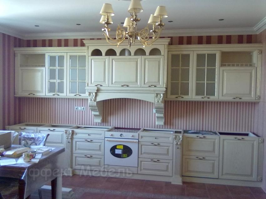"""Кухня """"Виктория"""" из массива Дуба."""