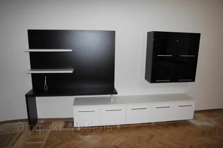 """Мебельная стенка """"Белое и чёрное"""""""