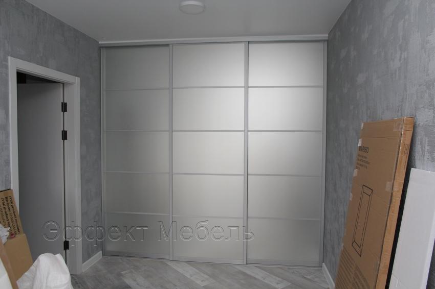 Шкаф купе встроенный двери зеркало матовое