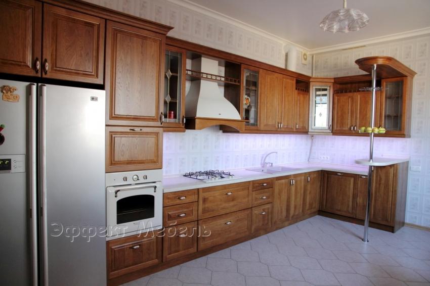 """Кухня """"Престиж"""" с фасадами из Ясеня"""