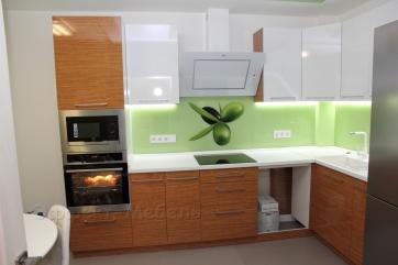 """Кухня """"Греция"""" с фасадами из пластика"""