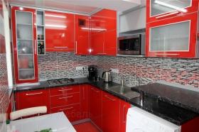 "Кухня ""Палермо""  фасады пластик в алюминии"