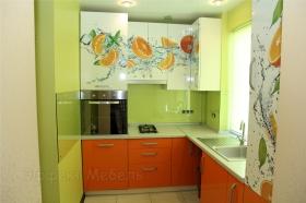 Кухня с фасадами фотопечать на МДФ