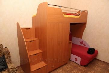 Кровать двухярусная из ДСП