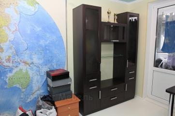 Мебельная стенка из ДСП Венге тёмный