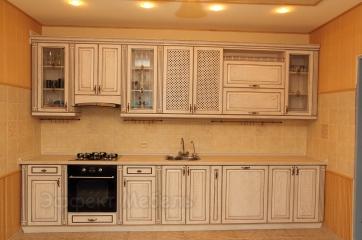 """Кухня """"Ника"""" фасады массив Ясеня"""