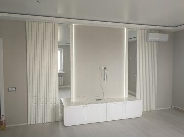 Мебель в гостинную из ДСП белого