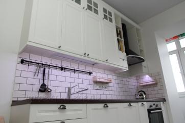 Кухня с фасадами из МДФ крашенного